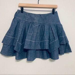 {Anthropologie} Leifsdottir Denim Skirt